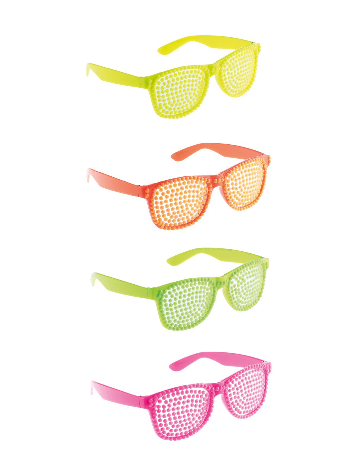 Brille Neon-Perlen neongrün