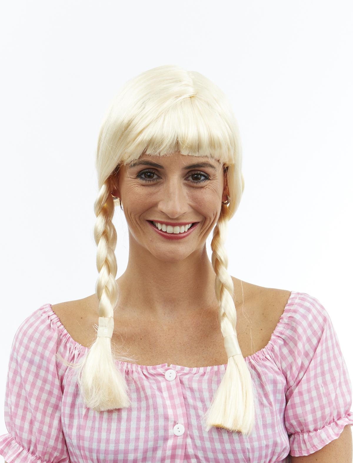 Zopfperücke Gundi blond