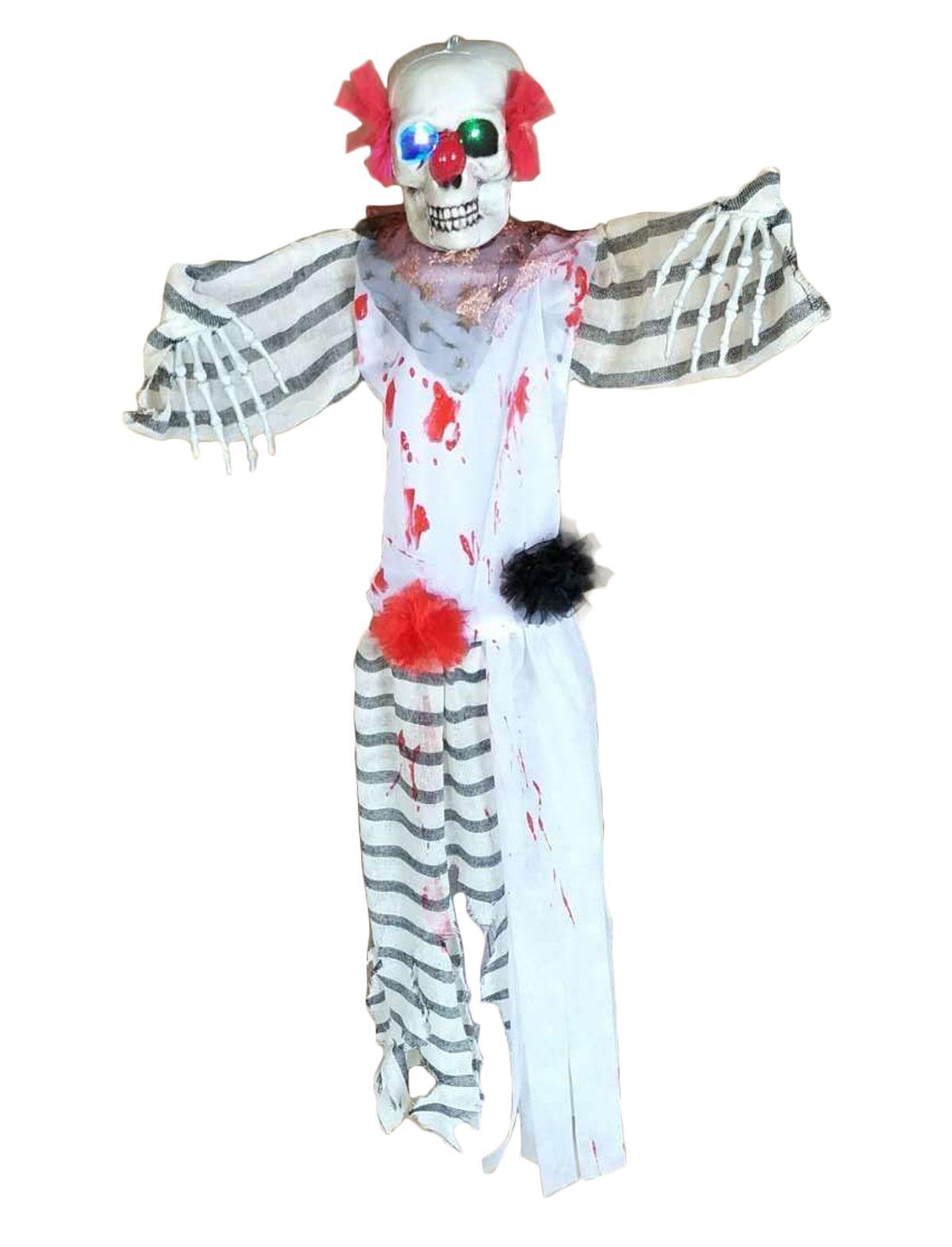 Hängefigur Clown des Todes mit Licht
