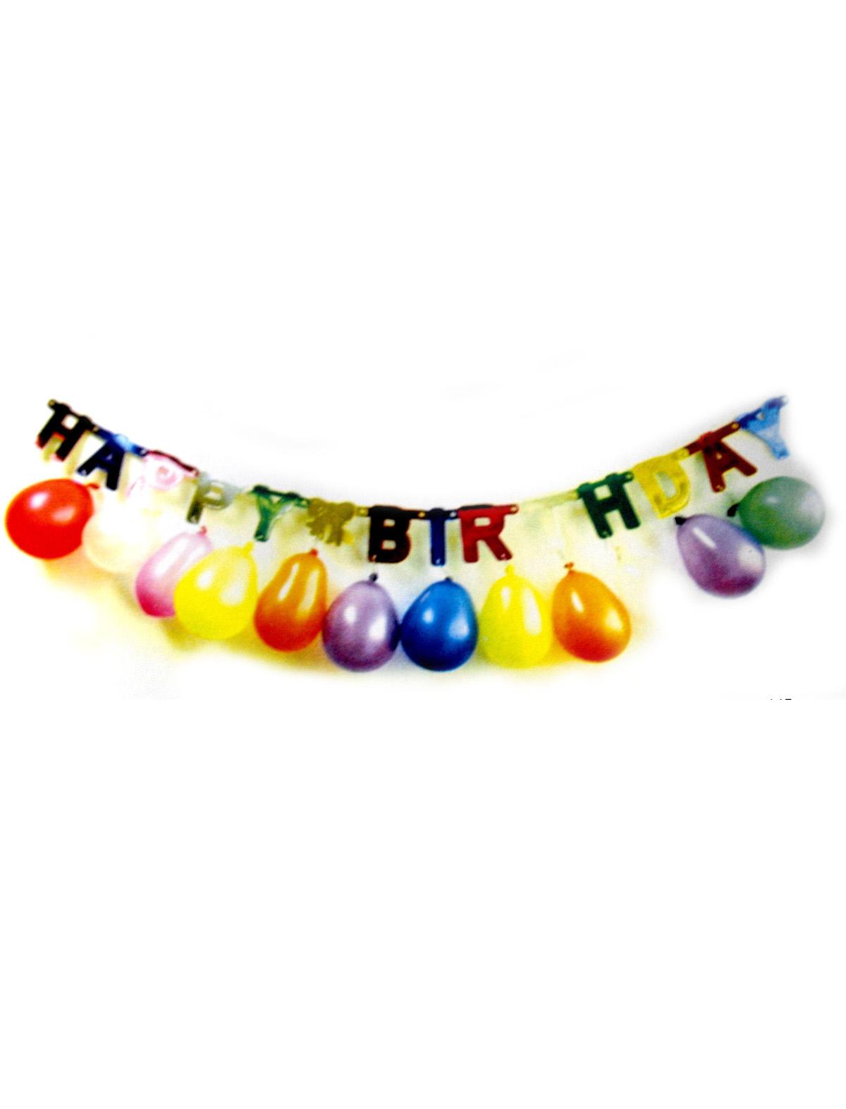 Girlande Happy Birthday mit Ballons