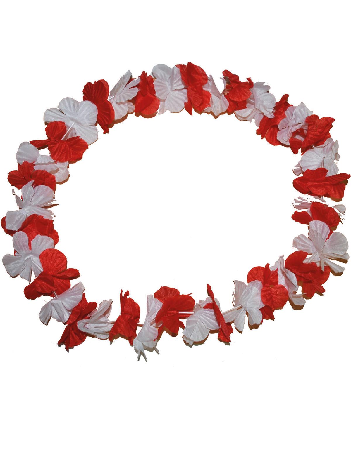 Hawaiikette rot-weiß