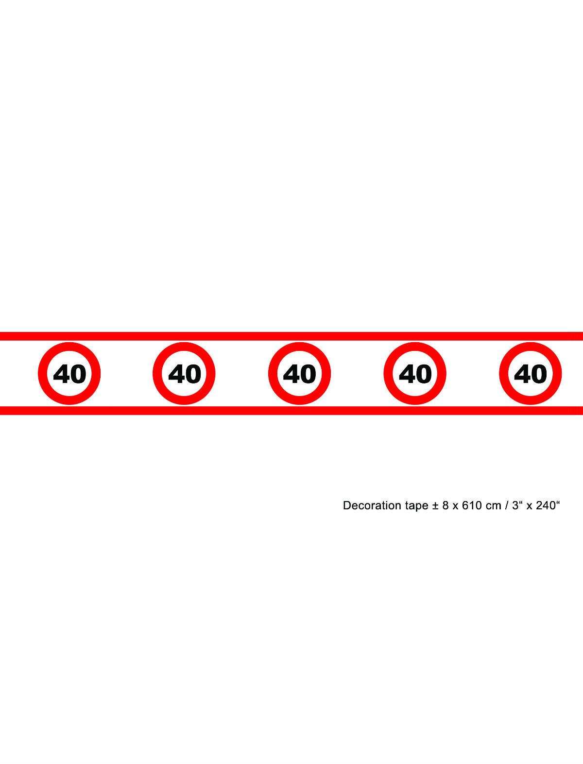 Absperrband Geburtstag 40 Jahre