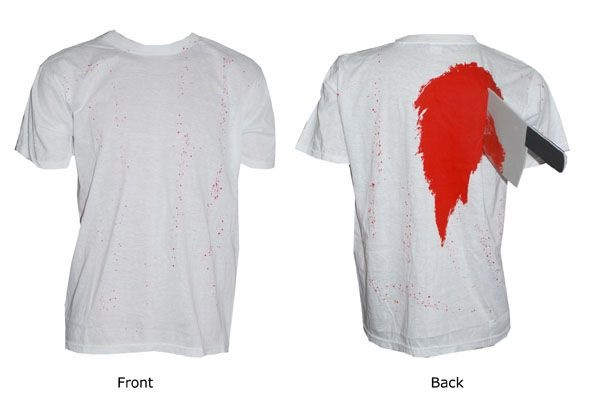 Horror Shirt mit Blut und Messer