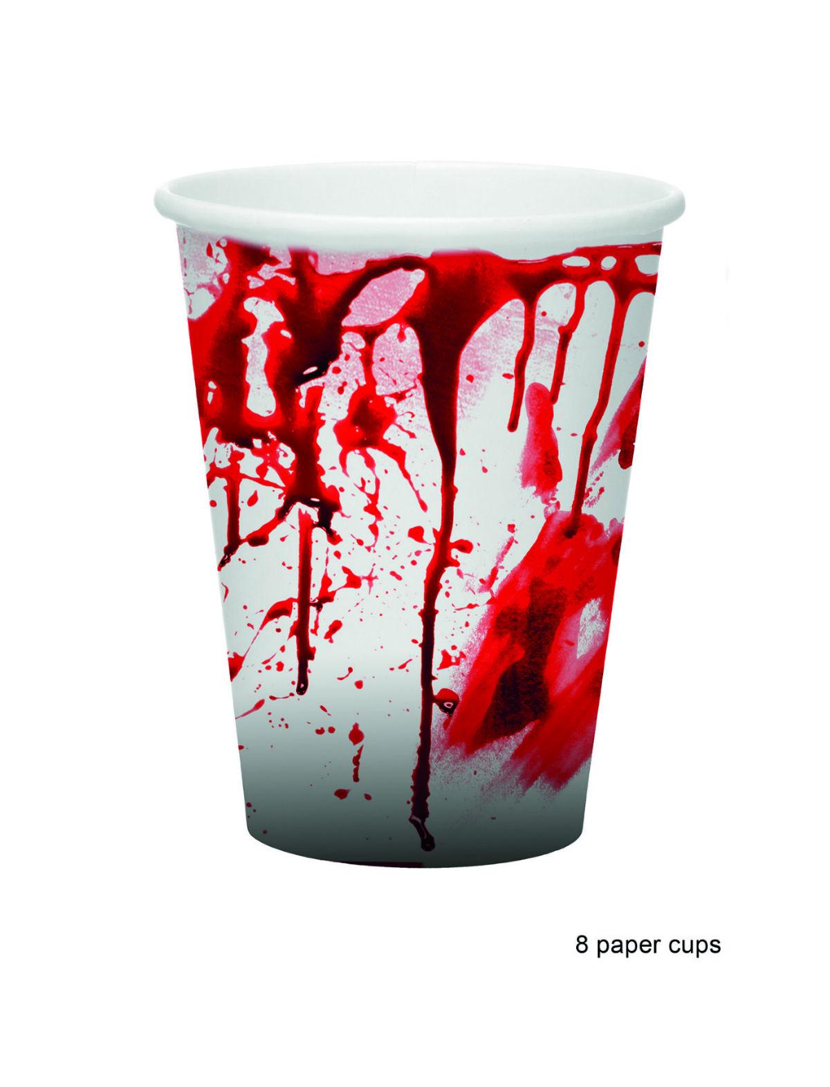 Pappbecher Blut