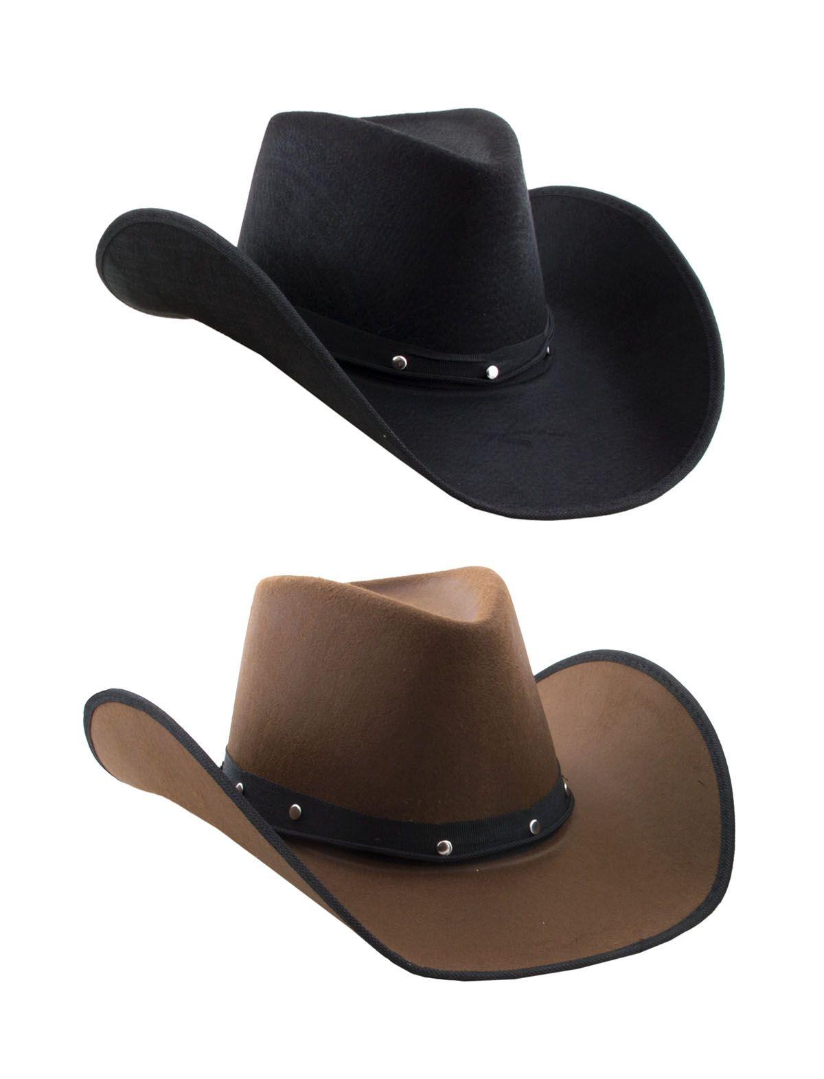 Cowboyhut Clay schwarz