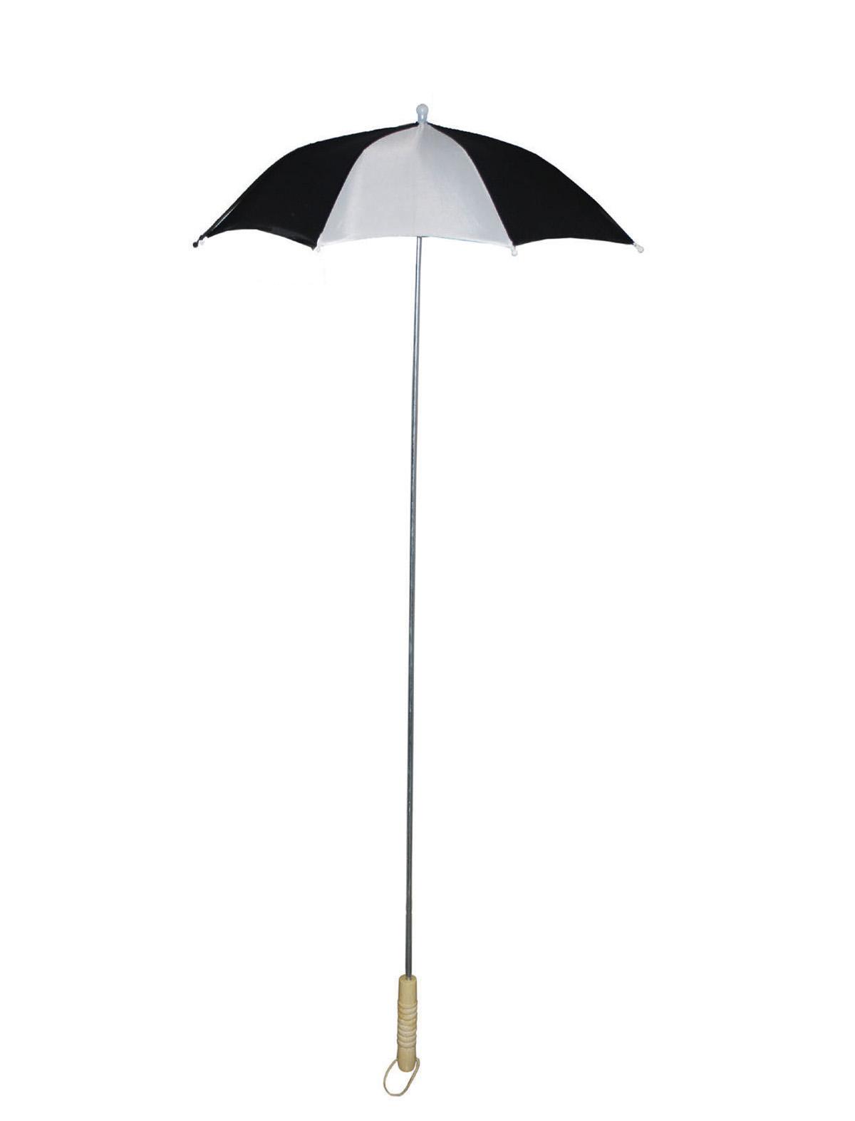 Schirm schwarz-weiß