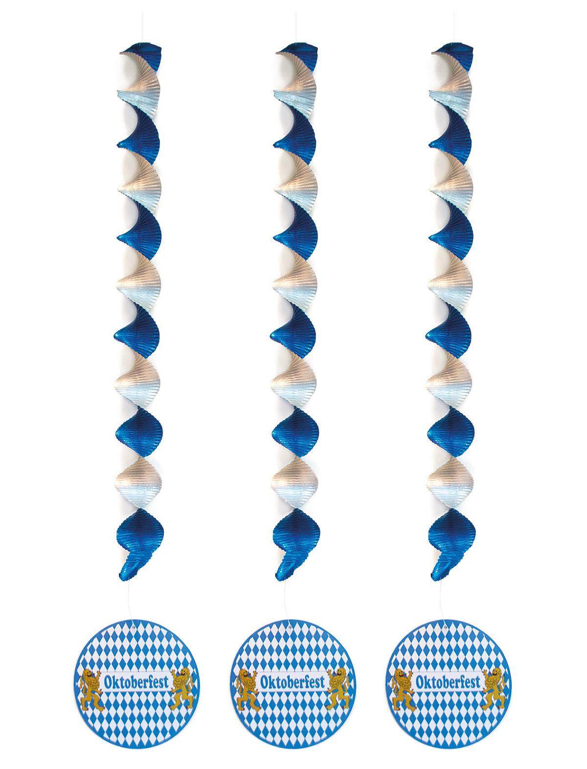 Deko-Rotor-Spiralen Oktoberfest - 3er Set