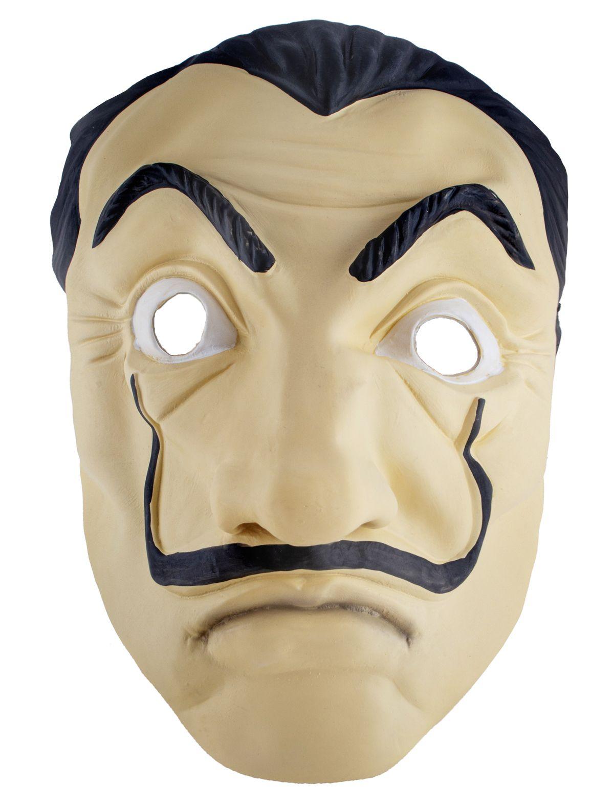 Latexmaske mit Schnurrbart