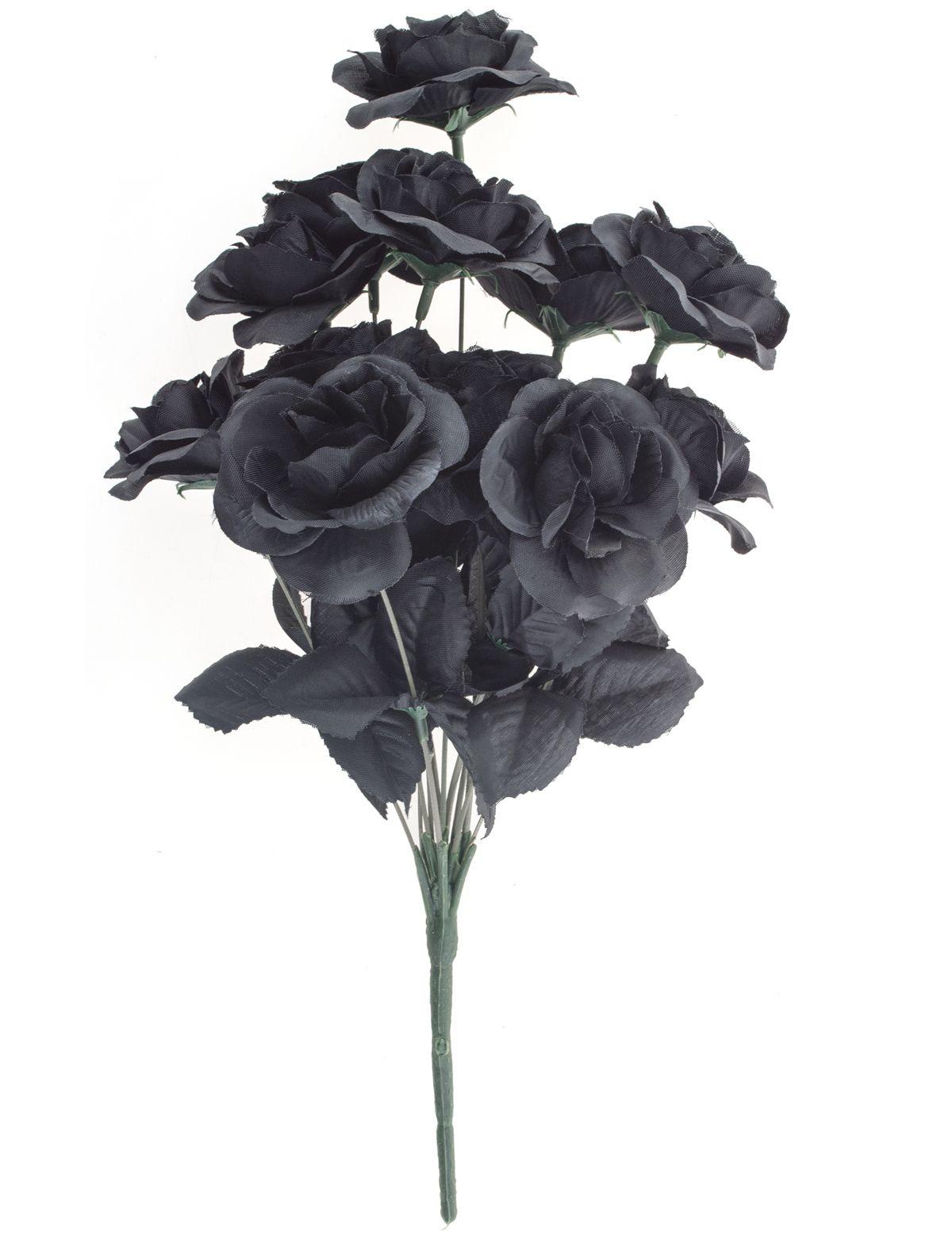 Blumenstrauß 12 schwarze Rosen