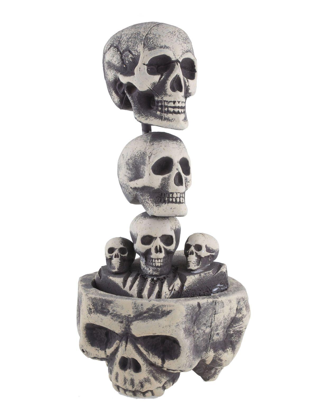 Säule mit Totenschädel 60 cm