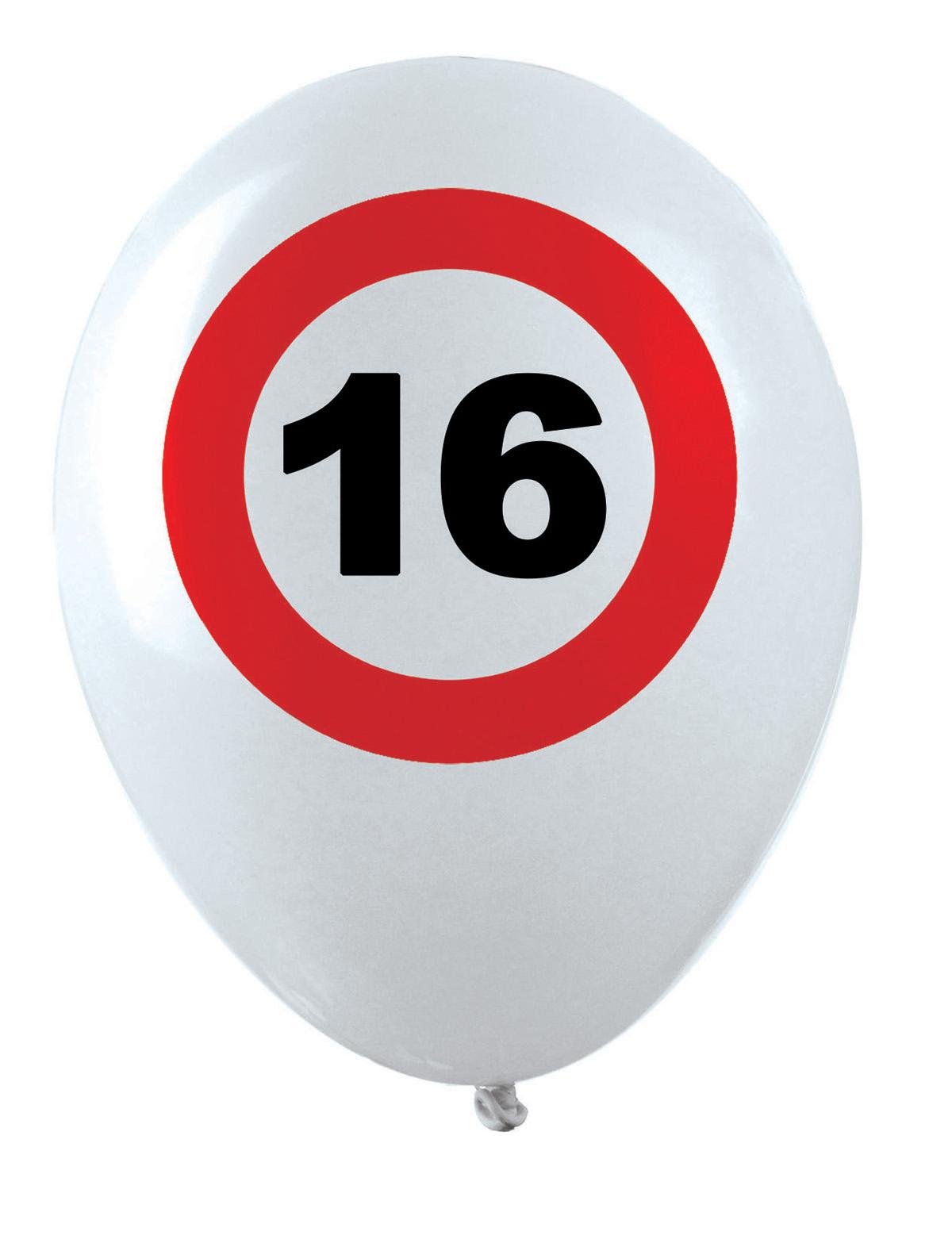Luftballons 16-70 Geburtstag 16 Jahre