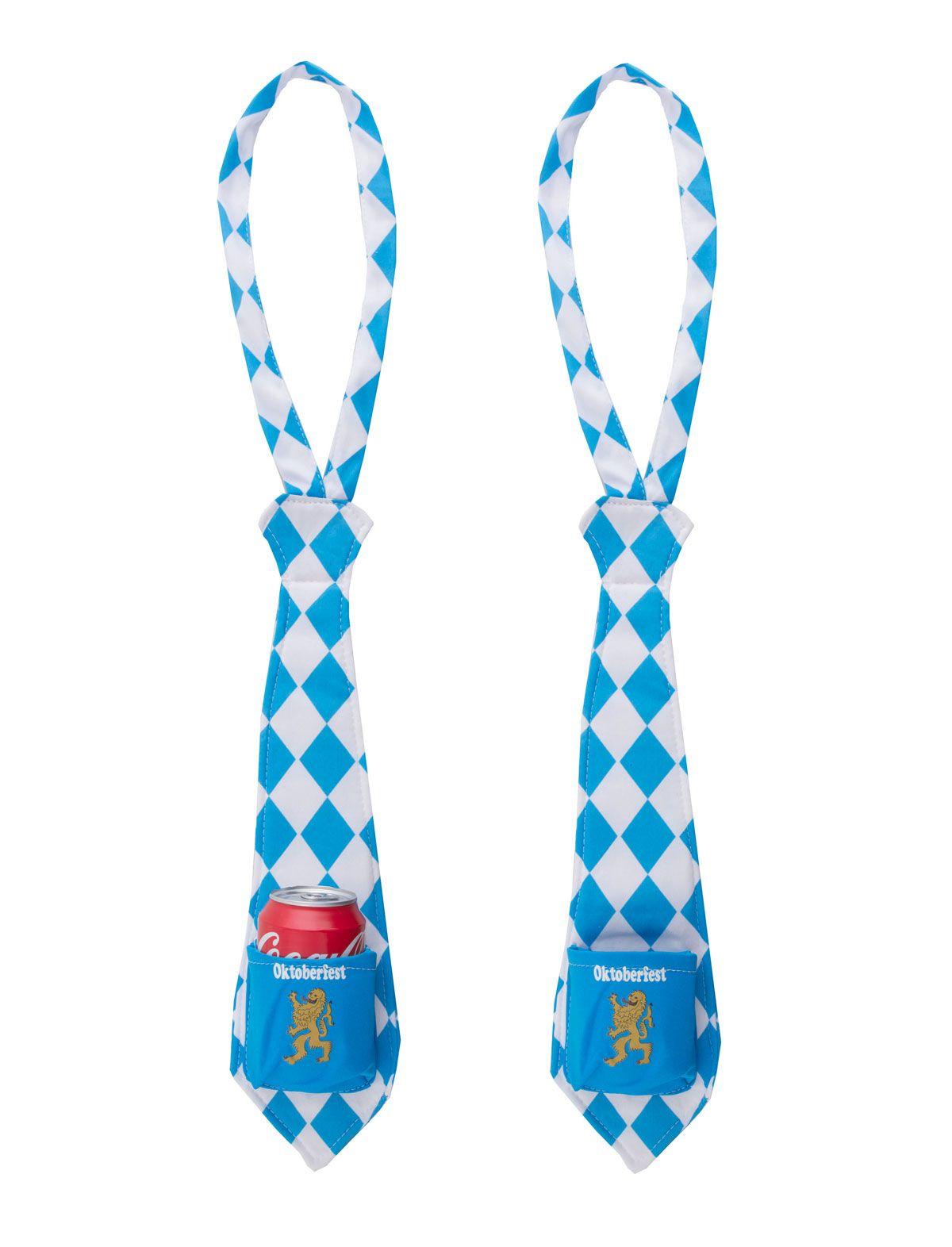 Oktoberfest Krawatte mit Dosenhalter