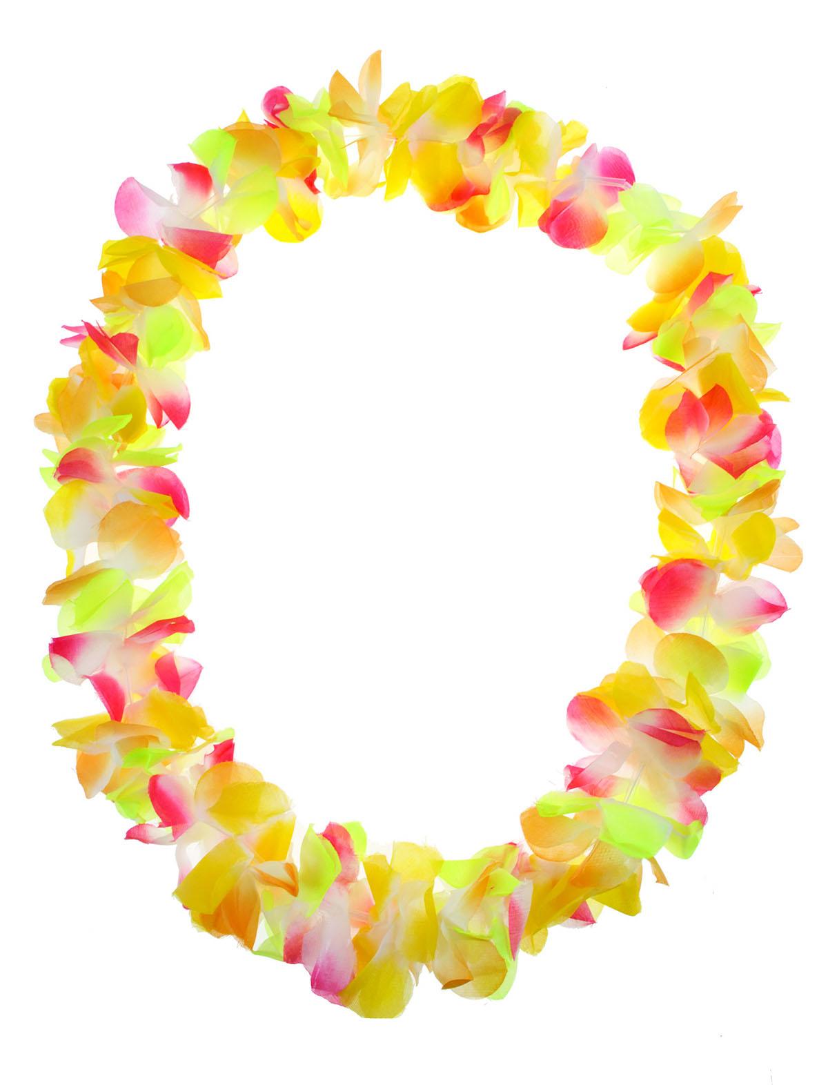 Hawaii Kette einfach gelb-bunt