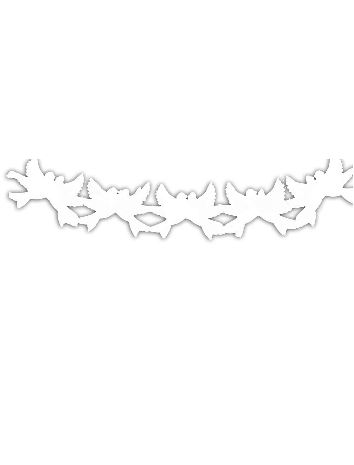 Girlande Tauben weiss