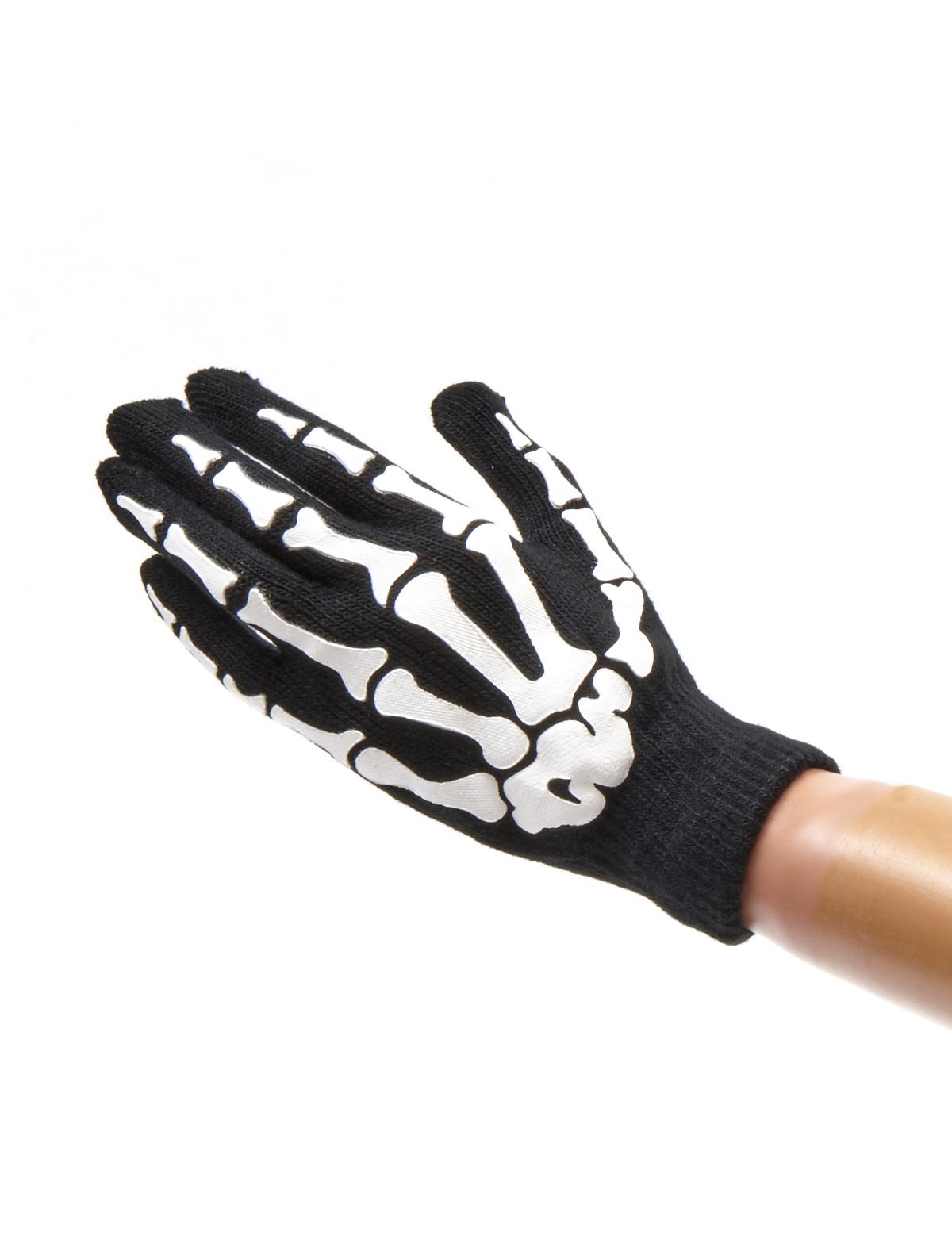 Strickhandschuhe Skelett Kinder