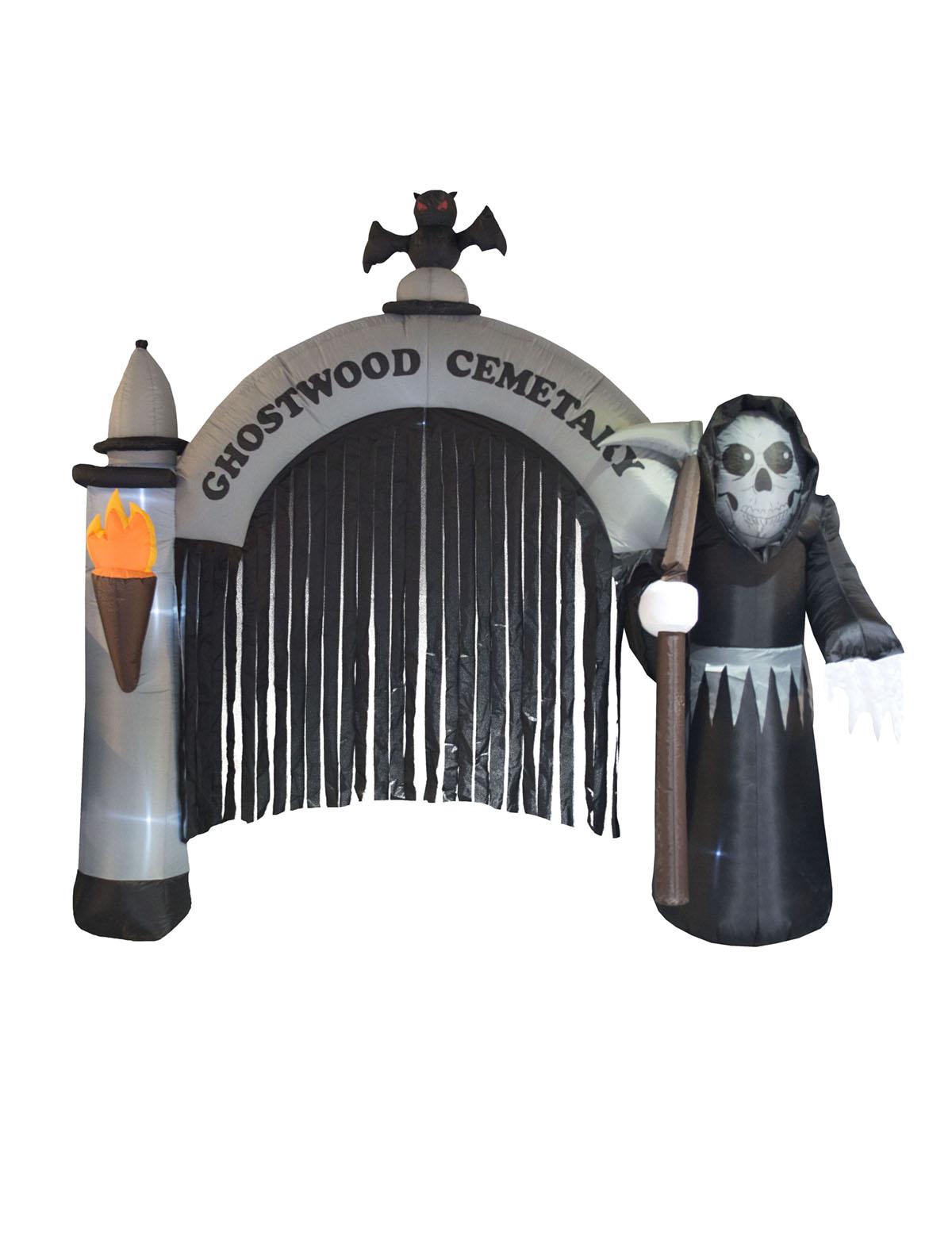 Aufblasbares Friedhofstor