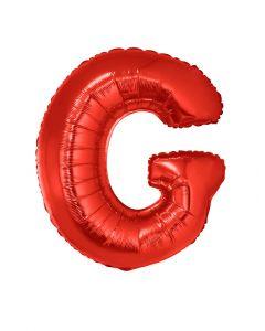 Folienballon 102 cm - Buchstaben rot A-Z Buchstabe G