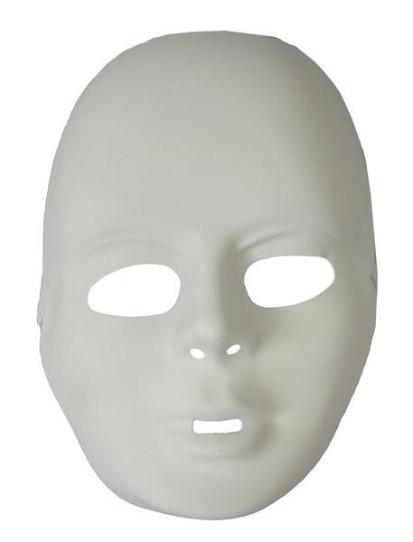 Halbmaske Gesicht weiß