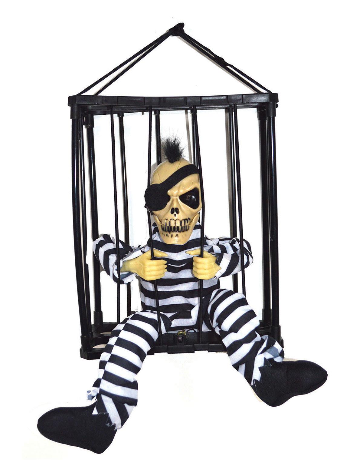 Hängefigur Skelett Gefängnis