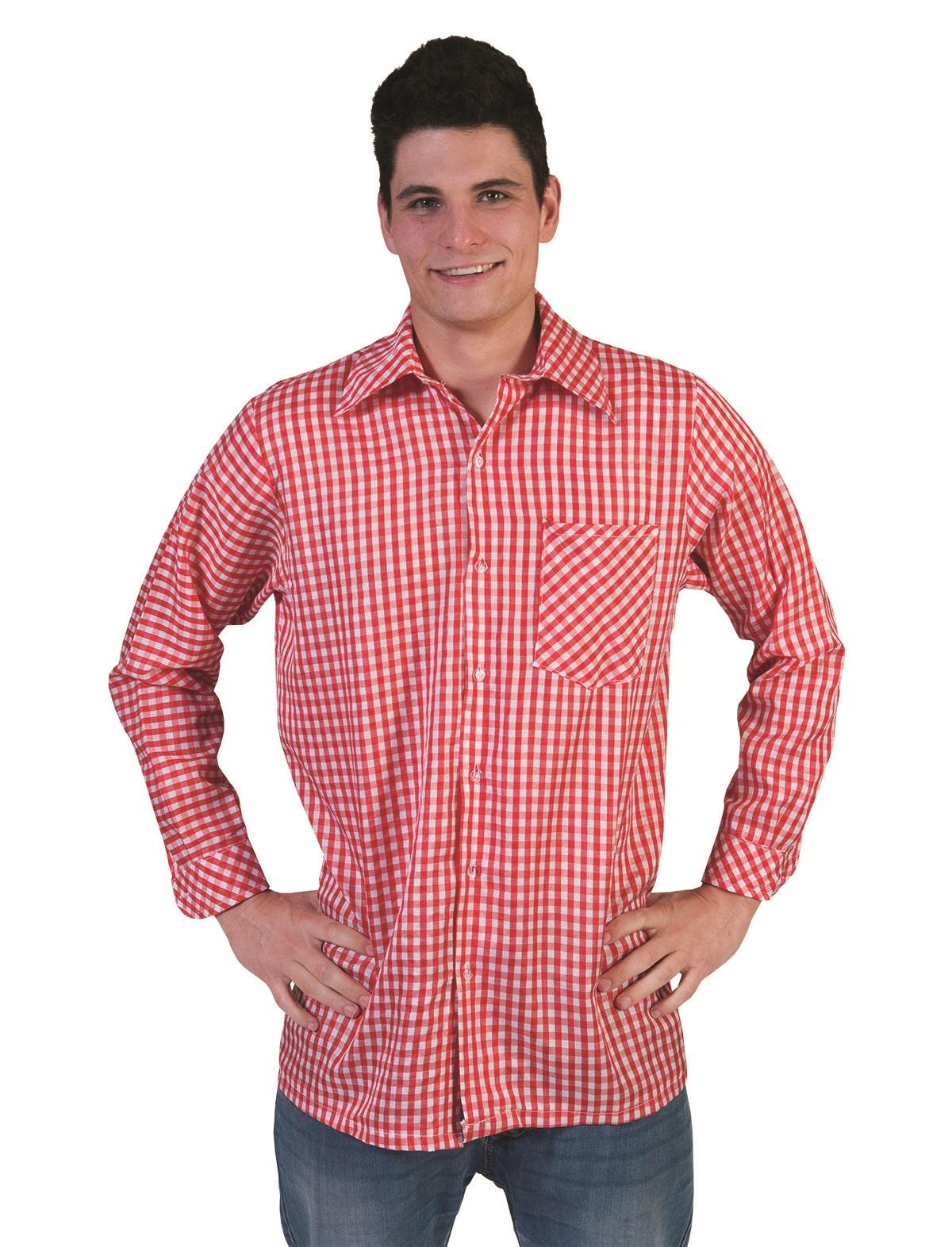 Tirolerhemd rot-weiß