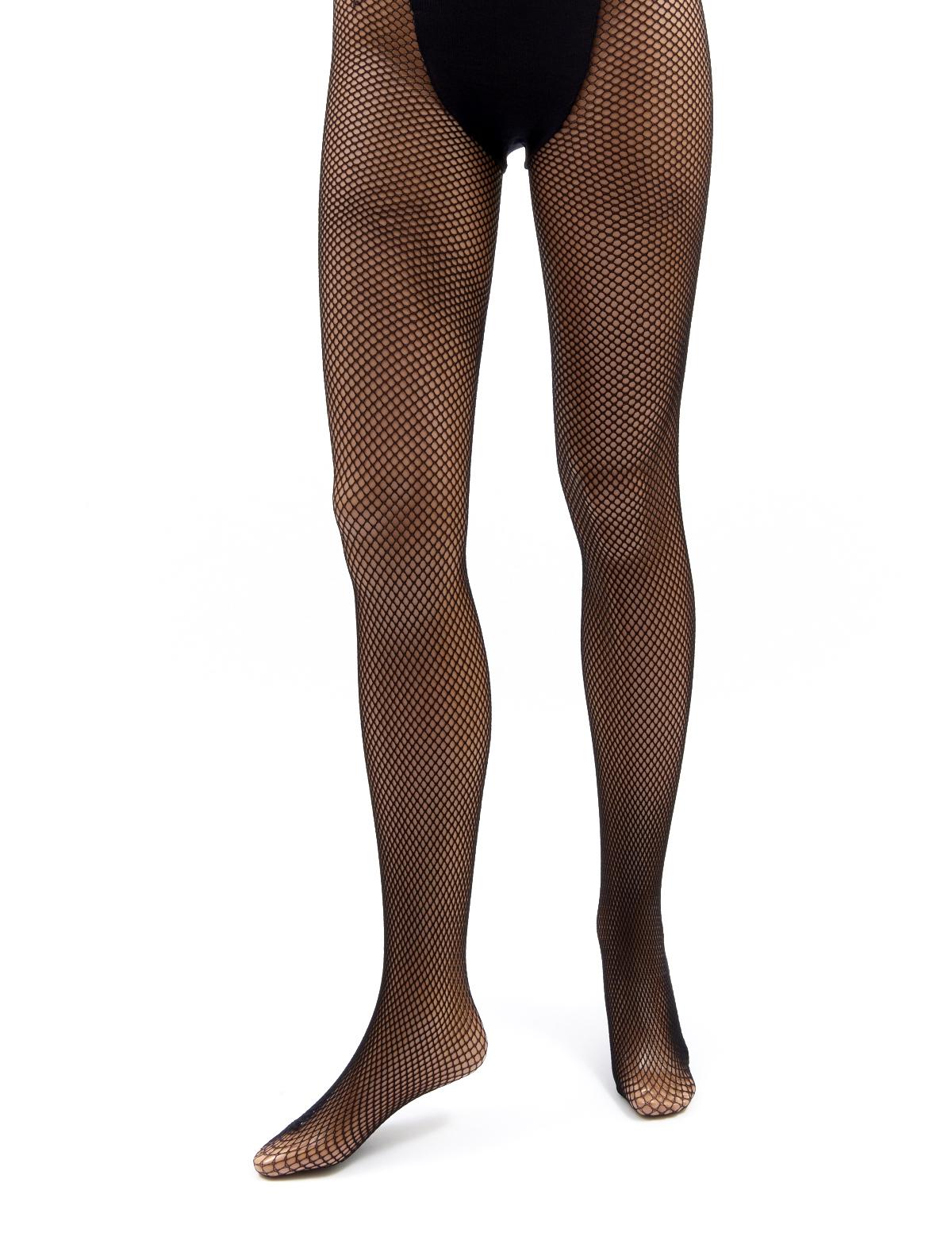 Netzstrumpfhose schwarz mit Slip
