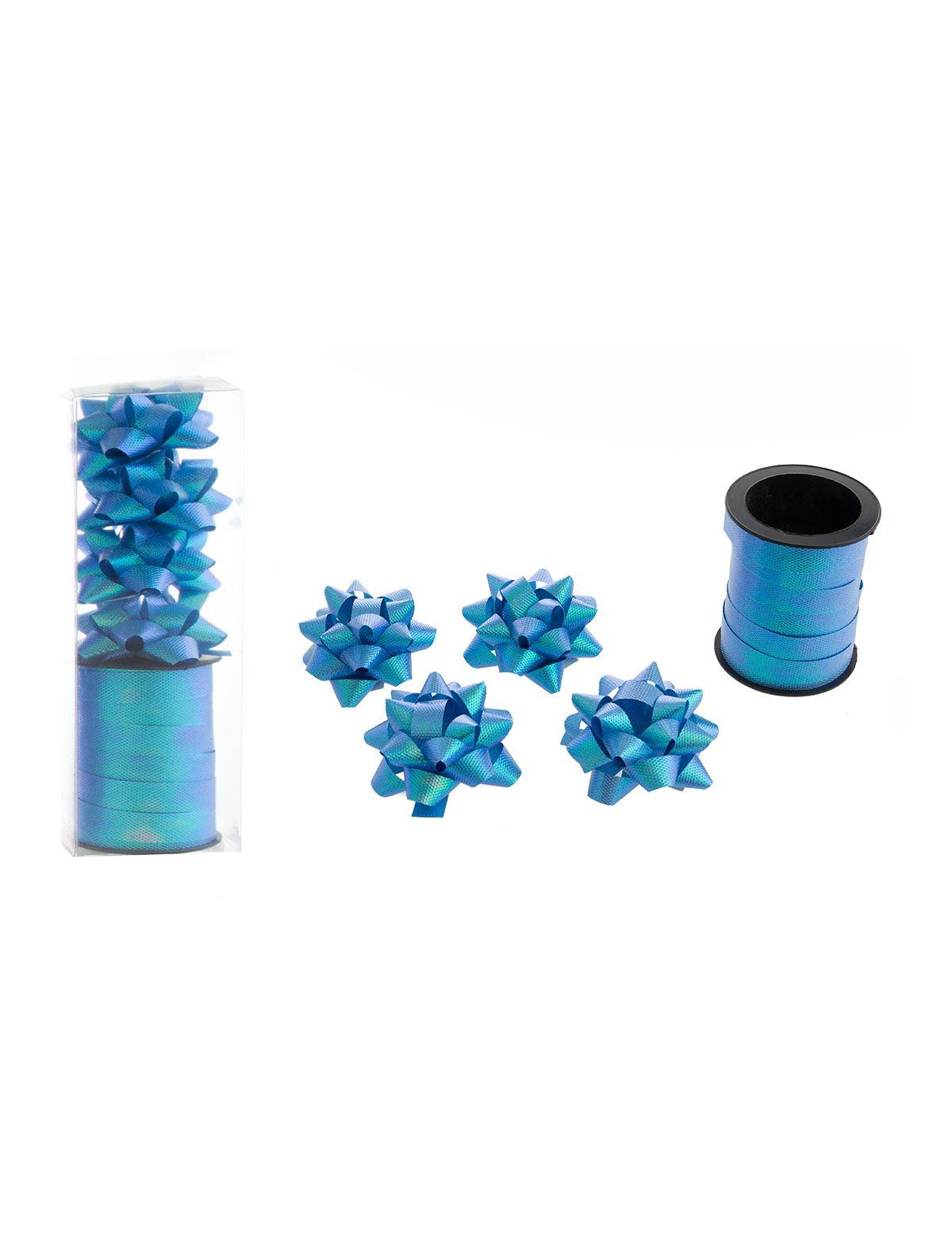 Geschenkband 10m blau