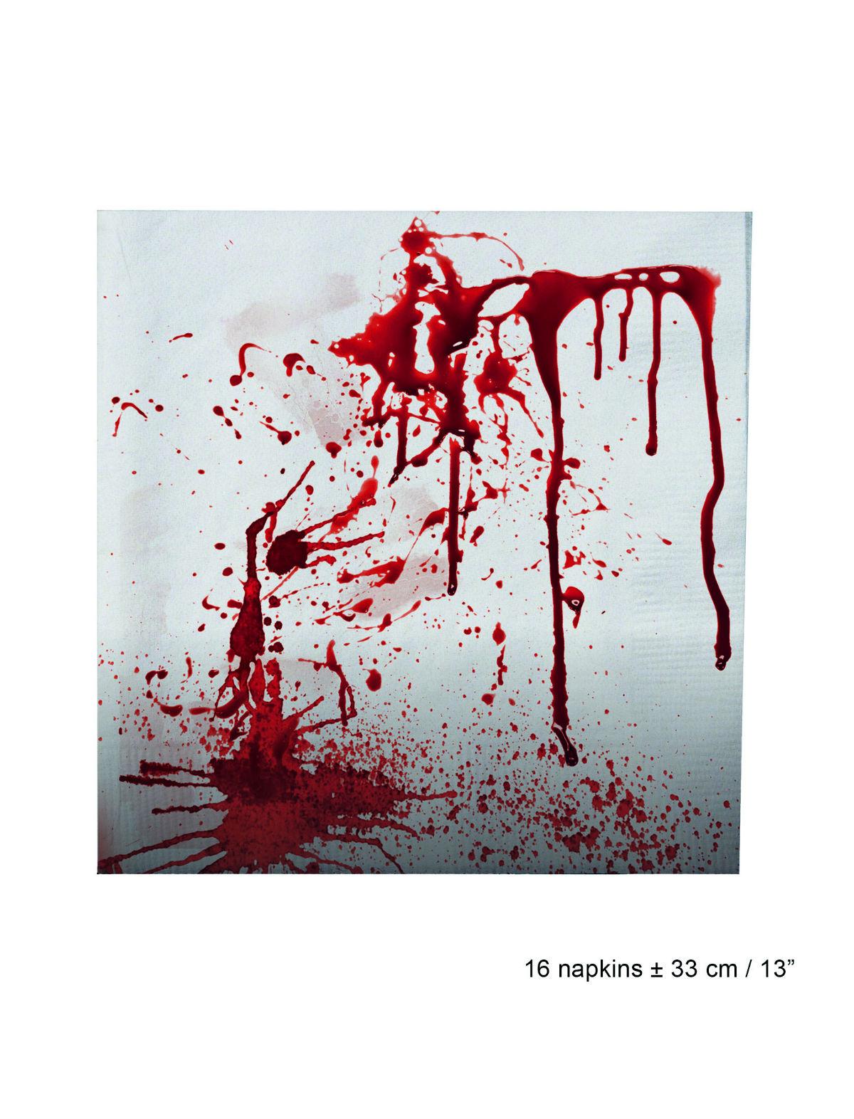 Servietten Blut
