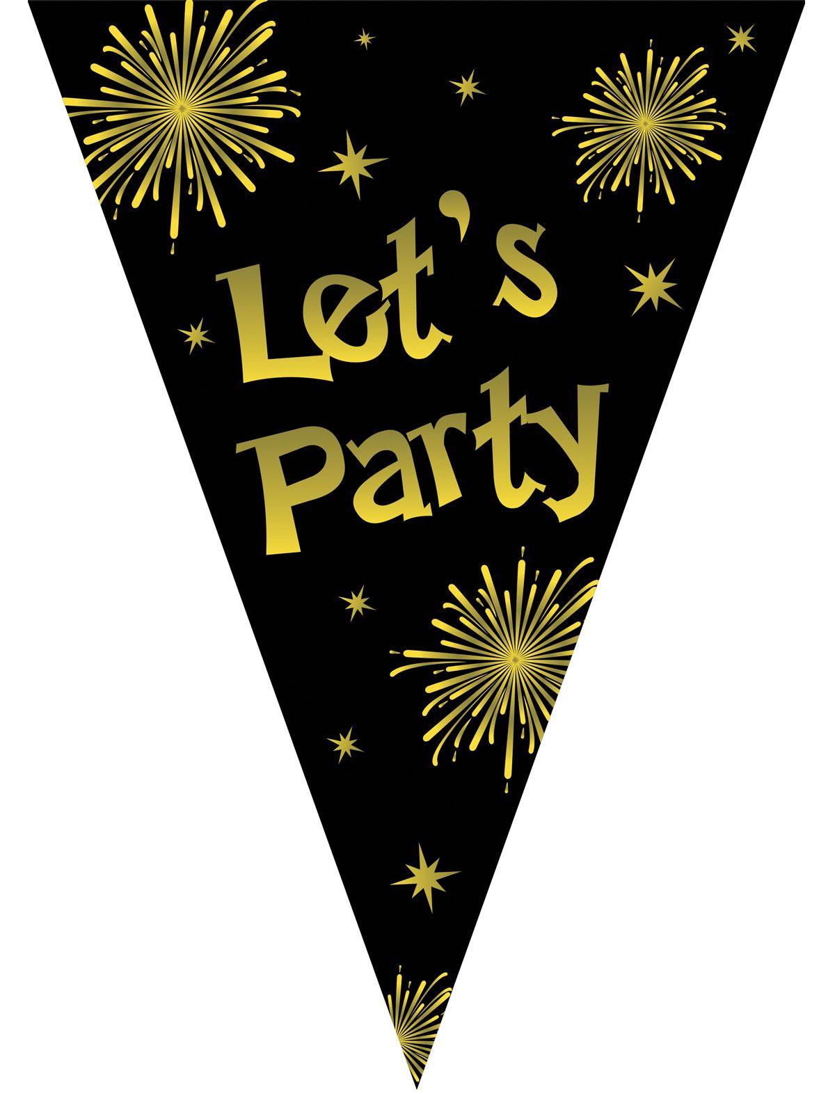 Wimpelkette Let's Party