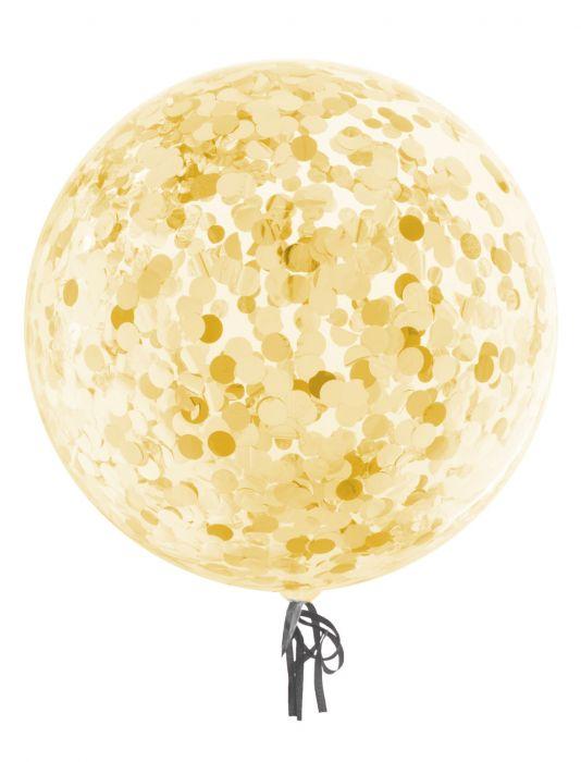 Bubble Ballon Konfetti gold