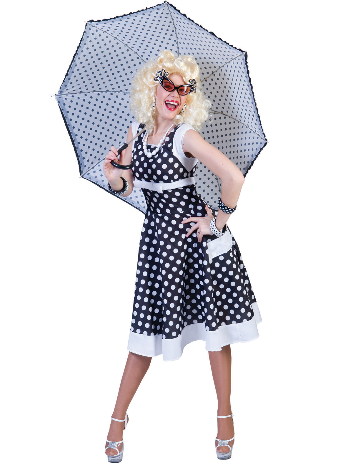 Kleid Patsy schwarz/weiß