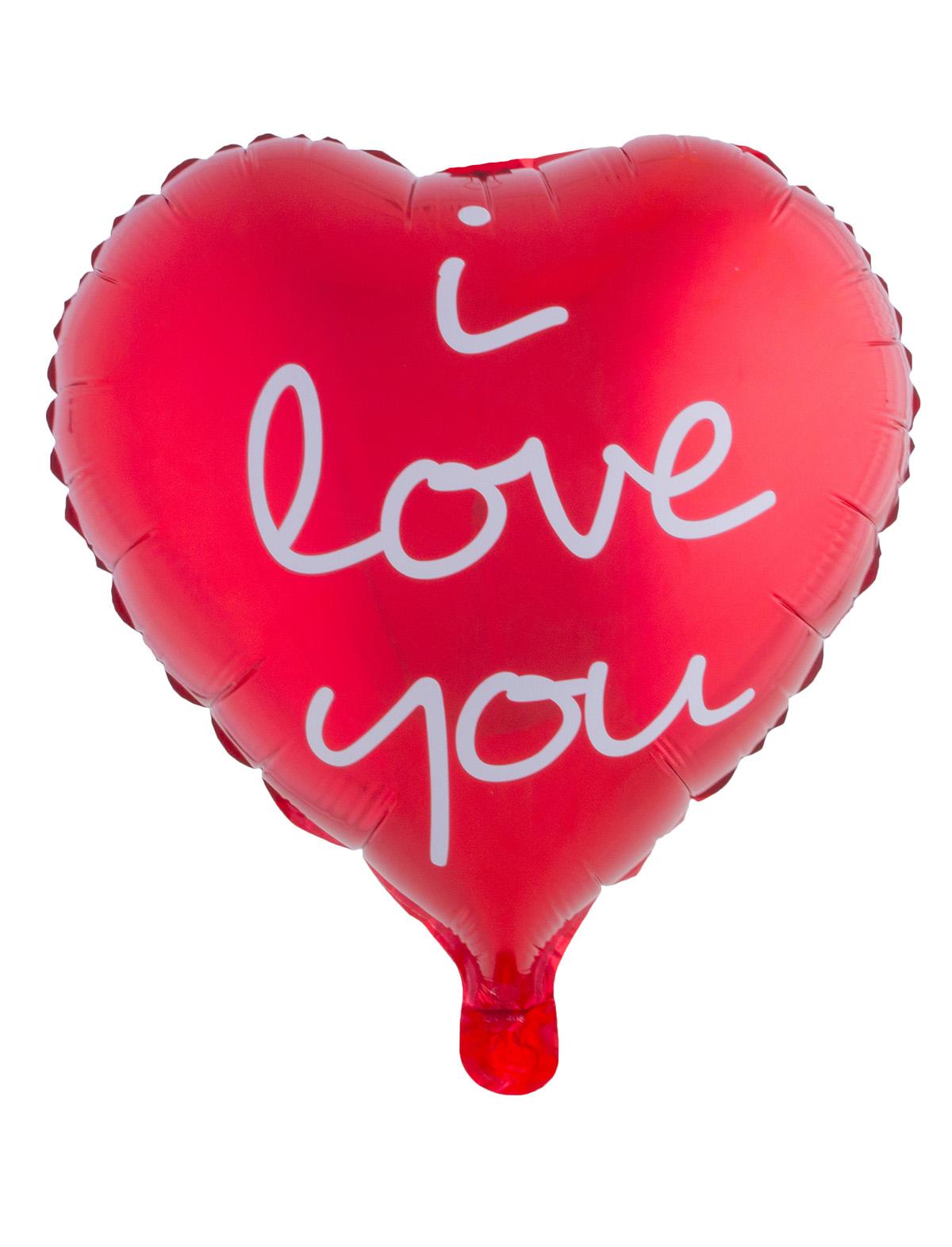 Folienballon Herz i love you rot