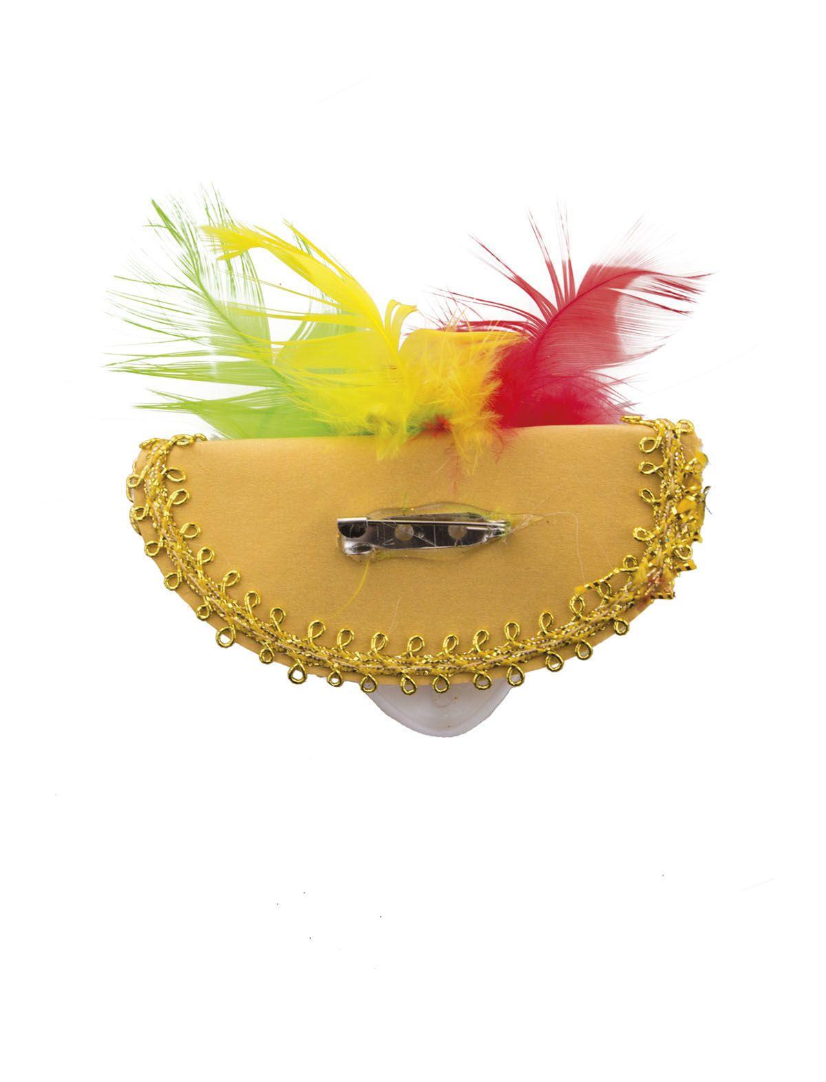 Brosche Maske mit Hut