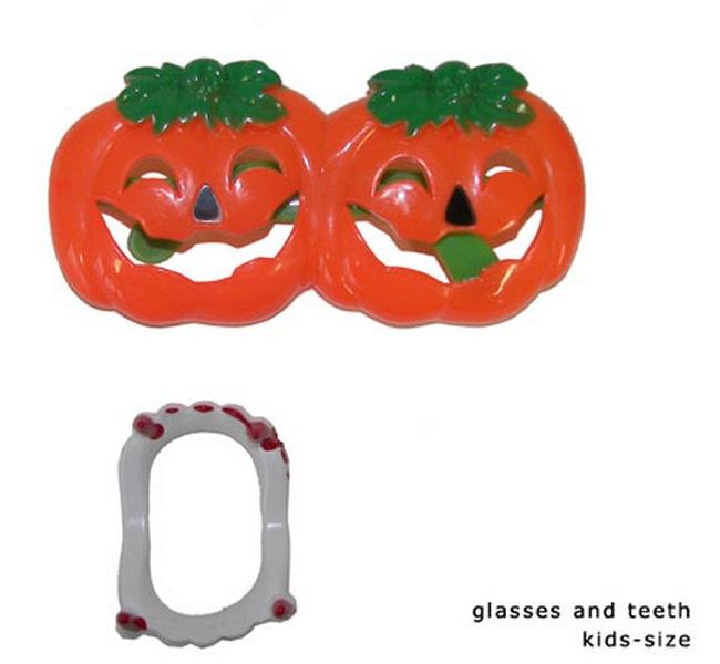 Set Brille und Gebiss Halloween
