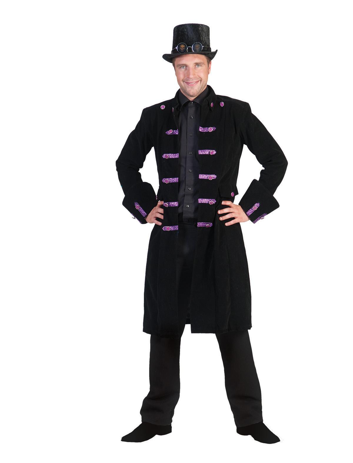Jacke Steampunk schwarz-flieder