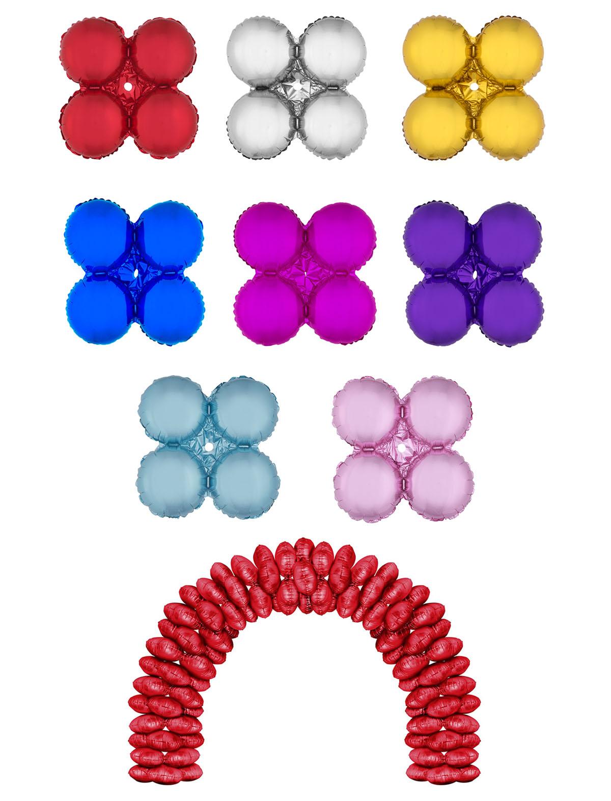 Folienballon 4er Kreis rot