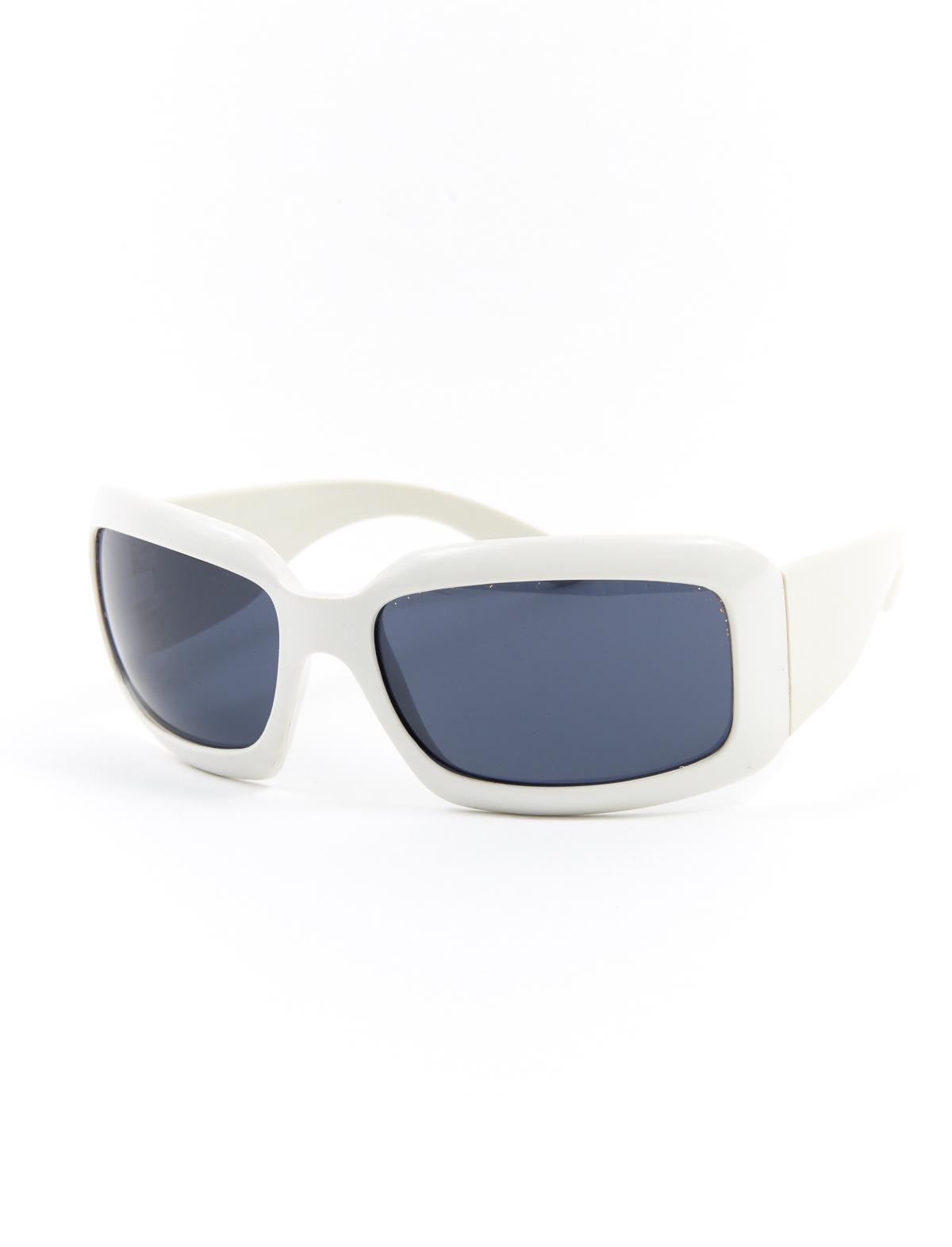 Brille weiß, rechteckige Gläser