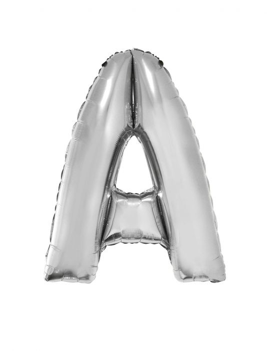 Folienballon 102 cm - Buchstaben silber A-Z Buchstabe A