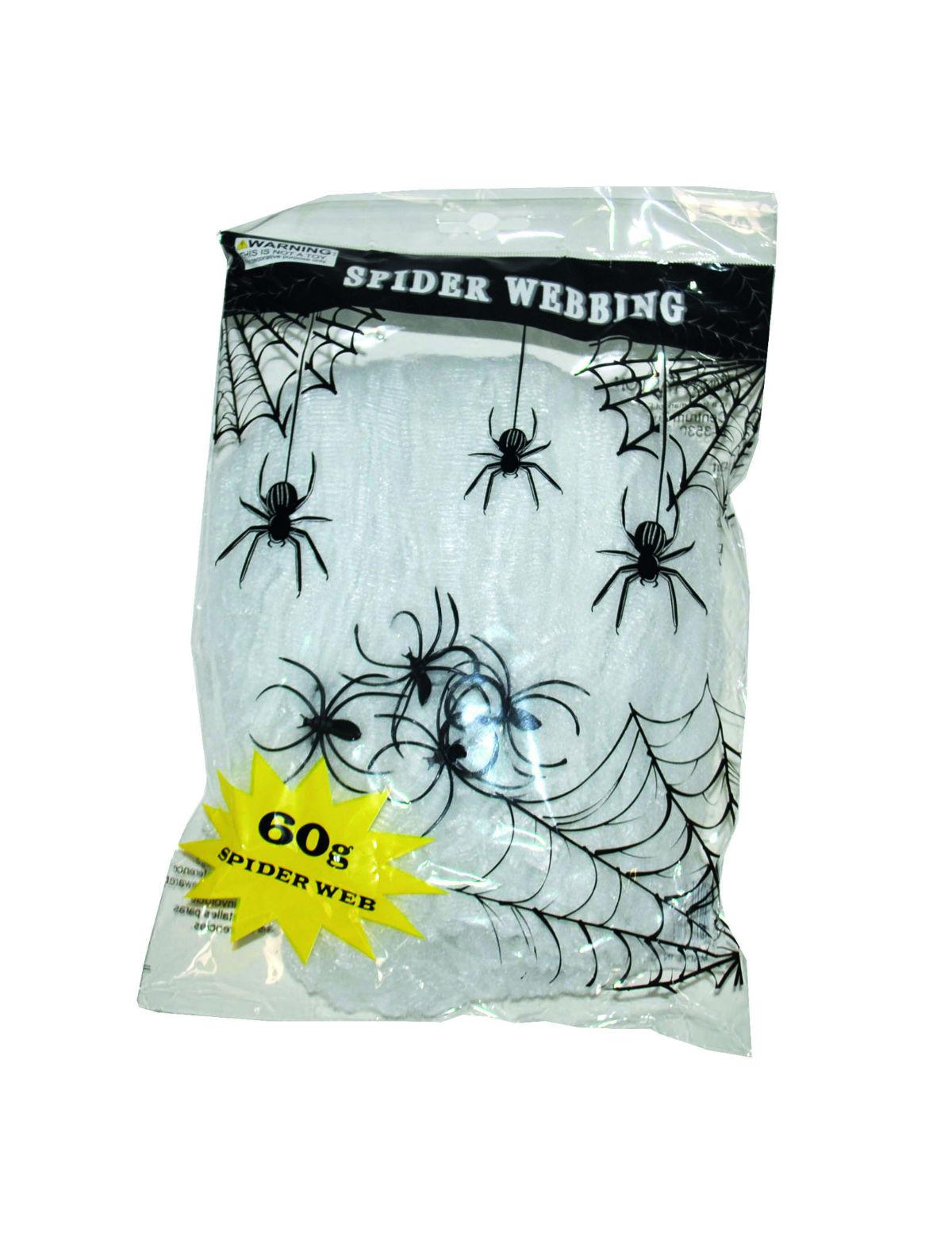 Spinnengewebe mit Spinnen