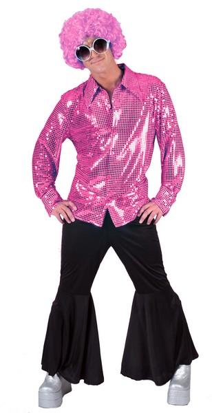 Paillettenhemd Lenny pink