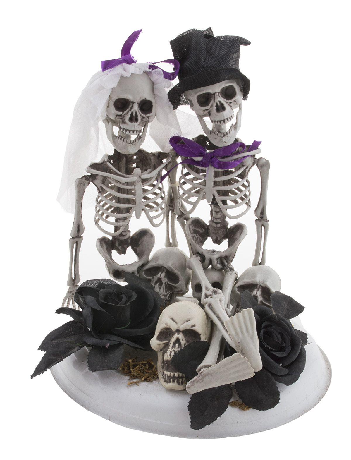 Dekofigur Skelett Braut und Bräutigam