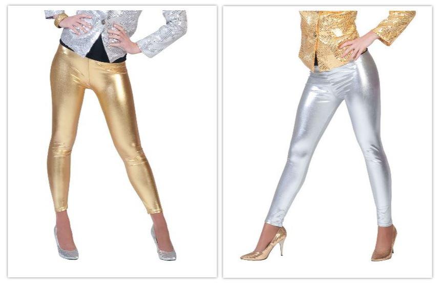Leggings gold/ silber gold
