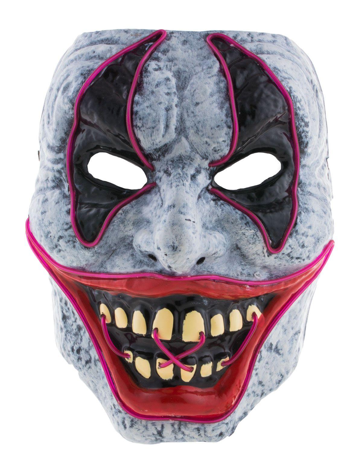 Maske Horror Clown mit Licht