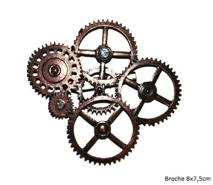 Brosche Steampunk
