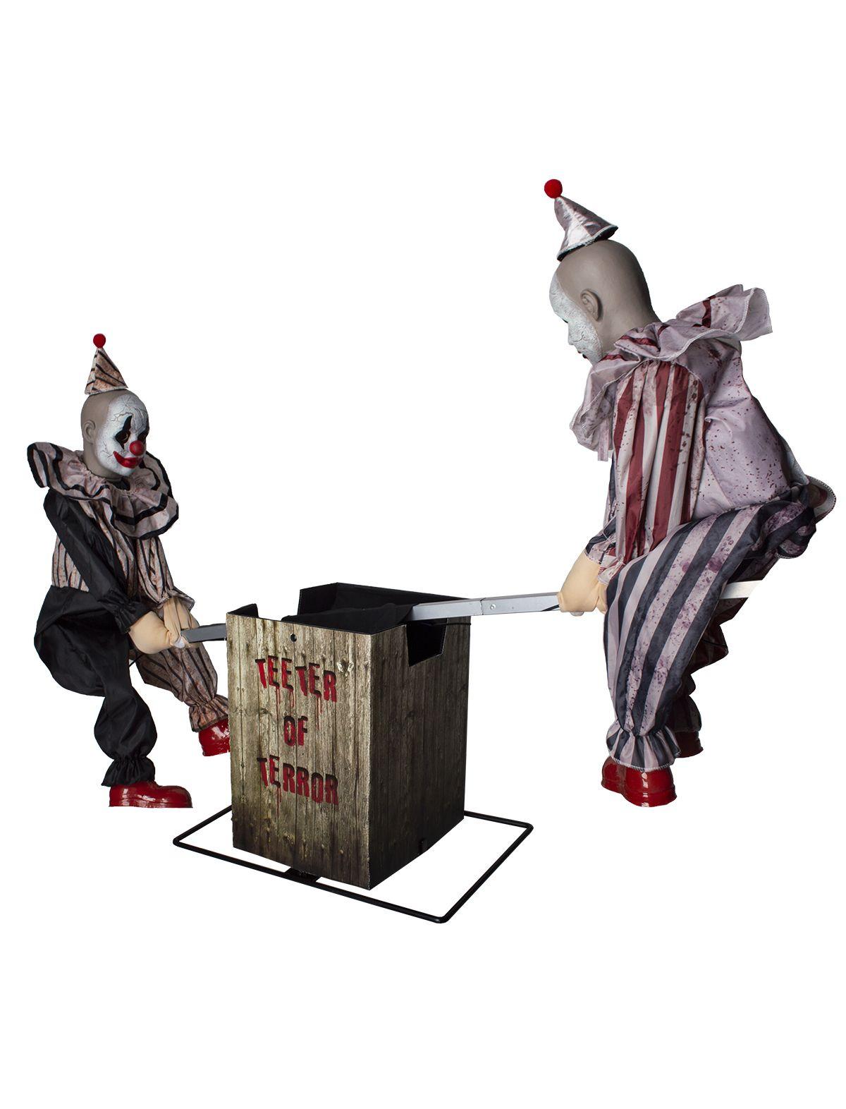 Horror Clowns auf Wippe mit Licht, Sound und Bewegung