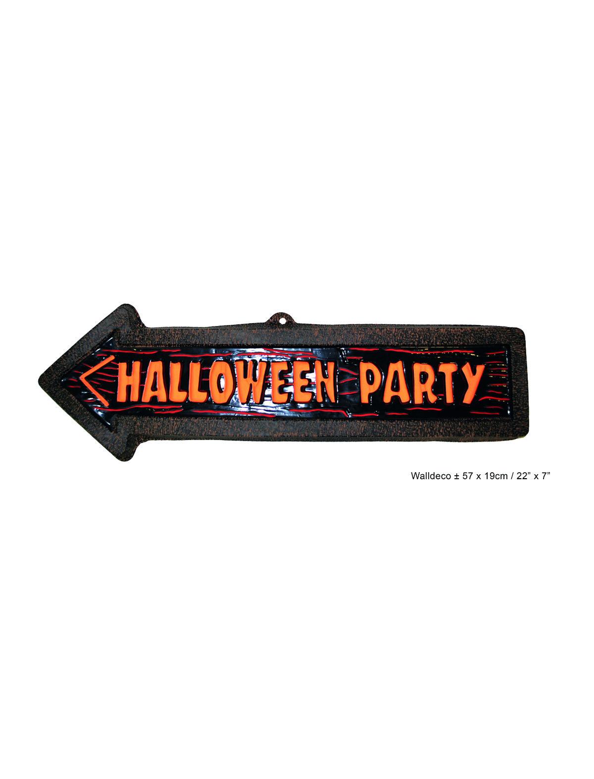 Dekoschild Halloween Party