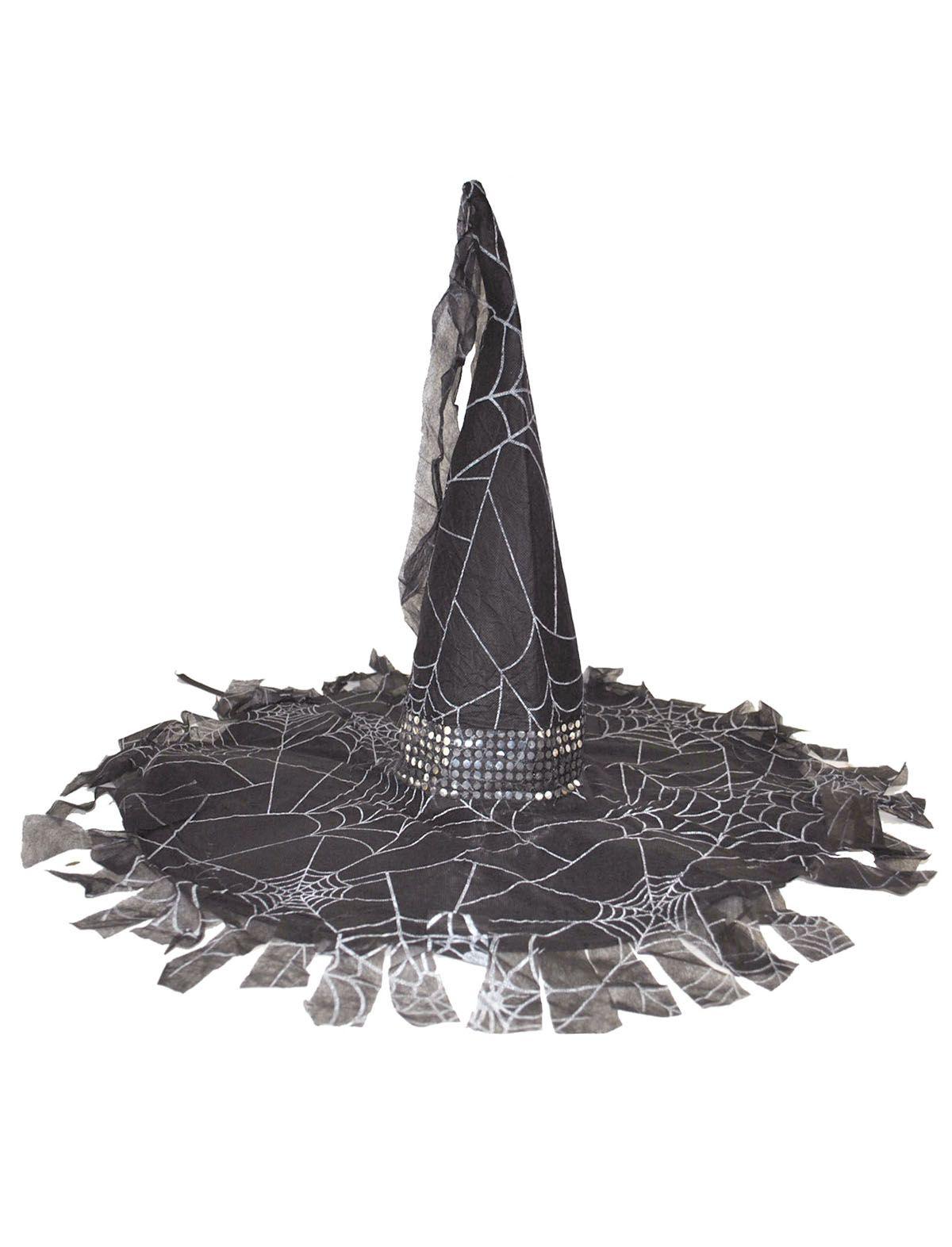 Hexenhut mit Fetzen und Spinnennetzen