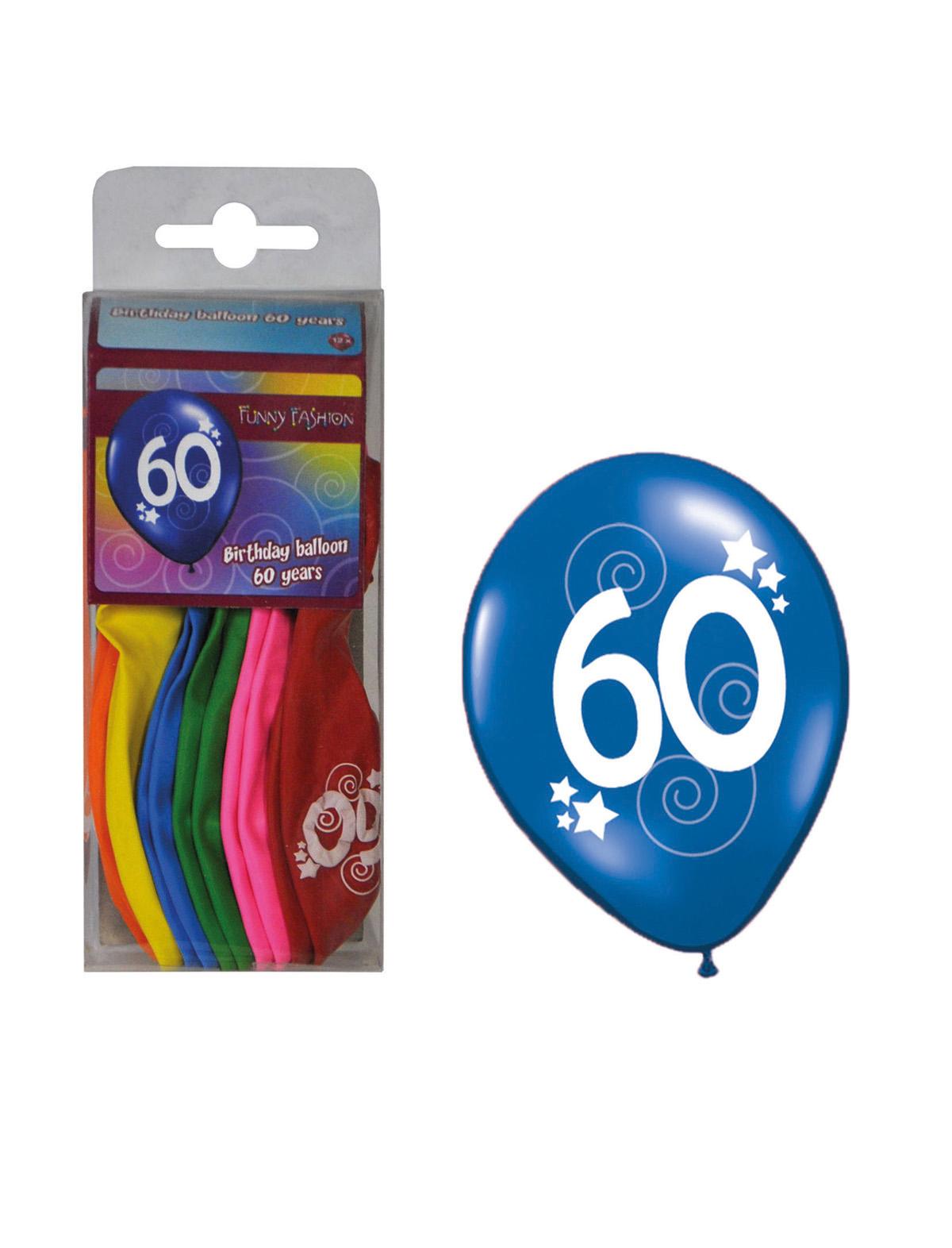 Luftballon mit Zahl 1-70 60