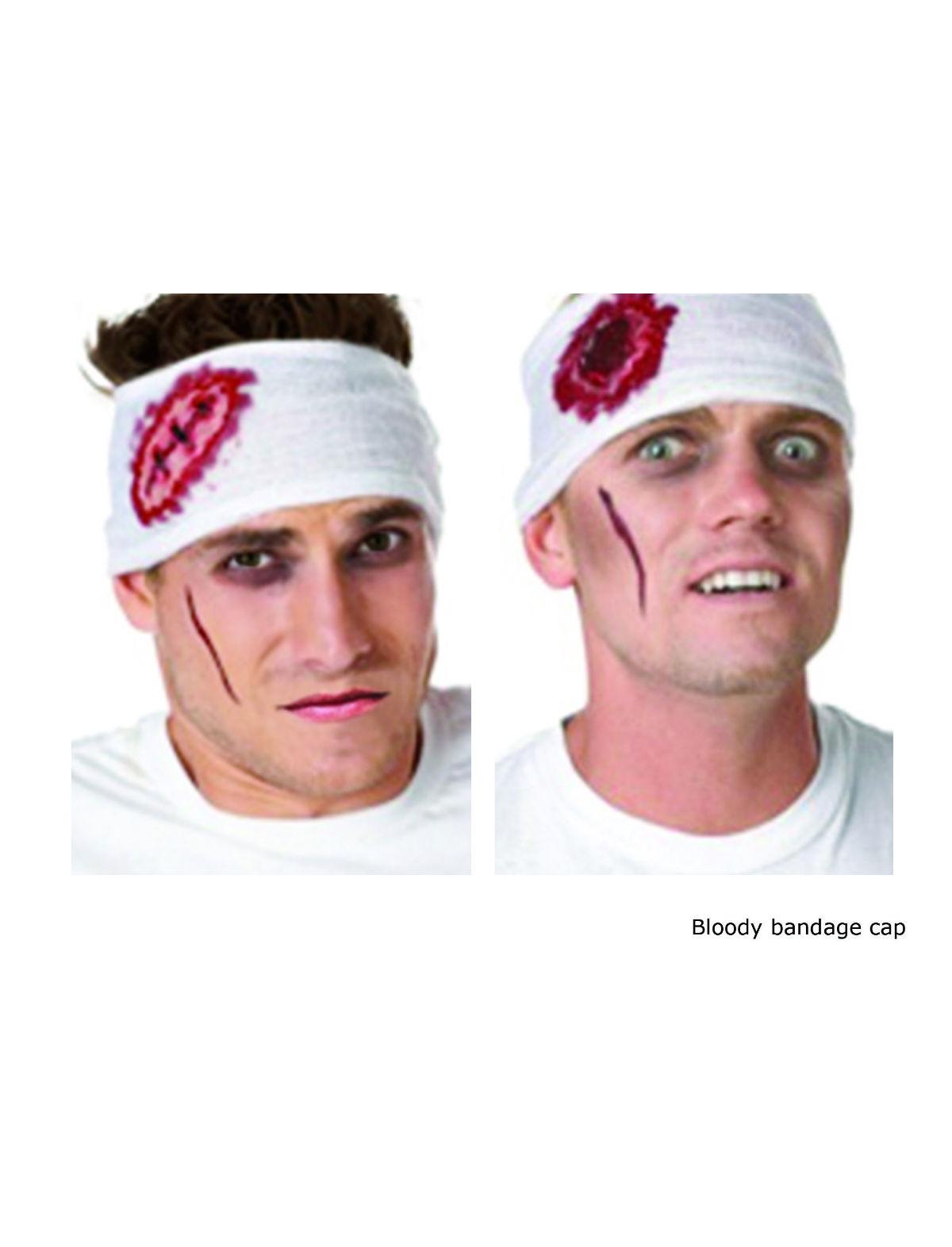 Kopfverband mit Wunde