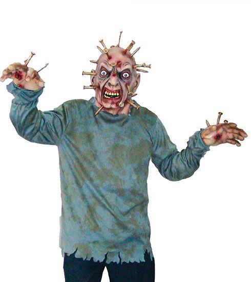 Kostüm Zombie mit Nägeln