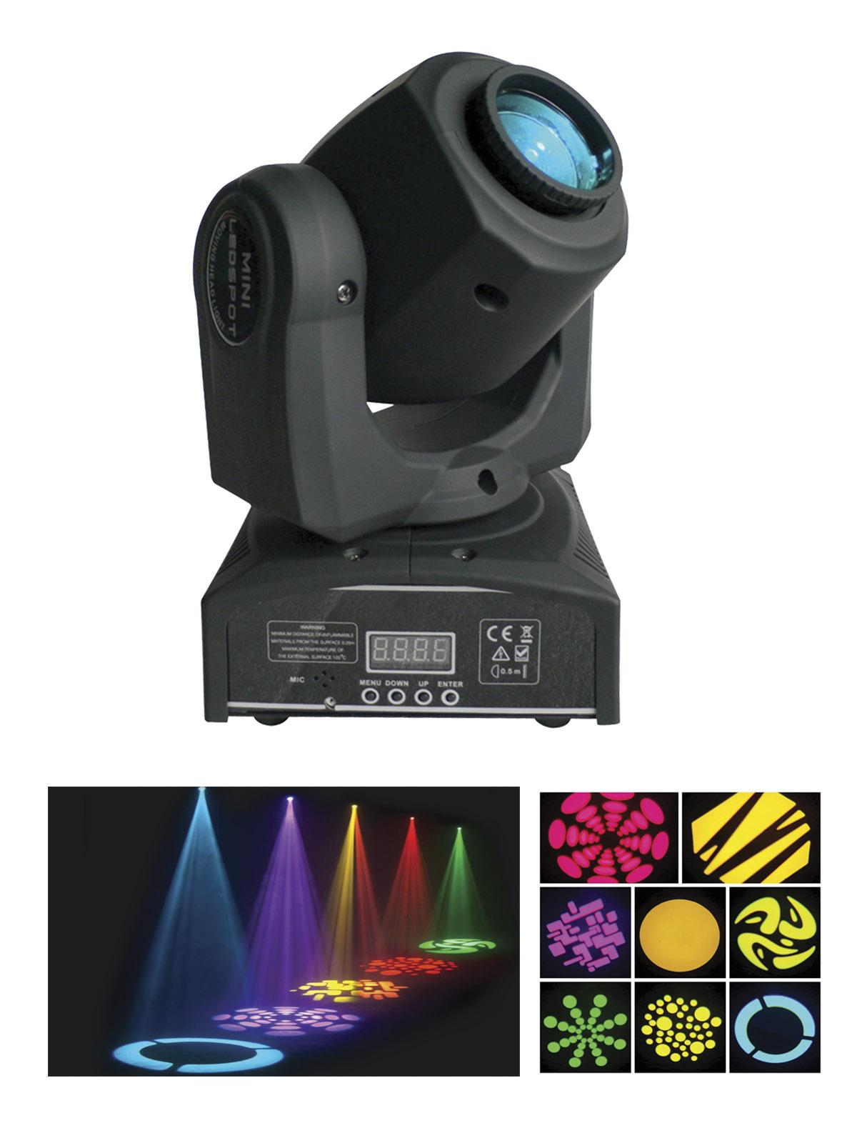 LED Moving Head Gobo Spot